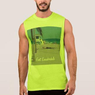 Soporte del salvavidas de la playa del pie camiseta sin mangas