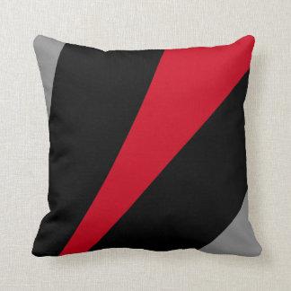 Soporte en estilo, negro, rojo y gris abstractos cojín decorativo