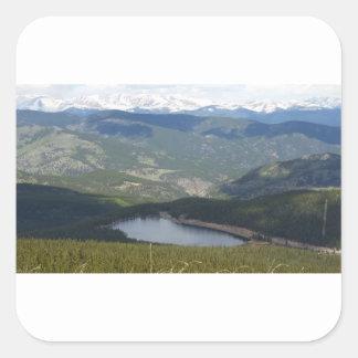 Soporte Evans, Colorado Pegatina Cuadrada