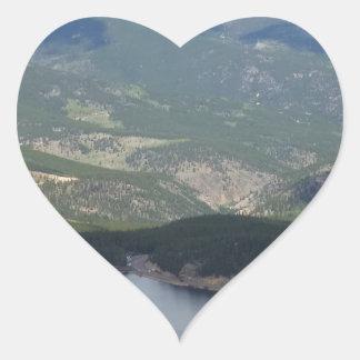 Soporte Evans, Colorado Pegatina En Forma De Corazón