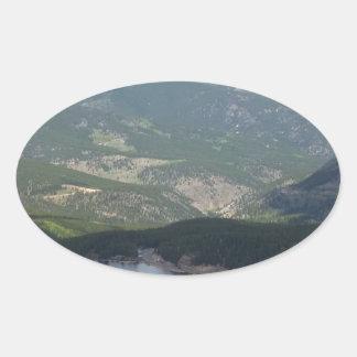 Soporte Evans, Colorado Pegatina Ovalada