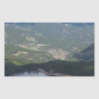Soporte Evans, Colorado Pegatina Rectangular