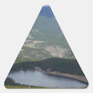 Soporte Evans, Colorado Pegatina Triangular