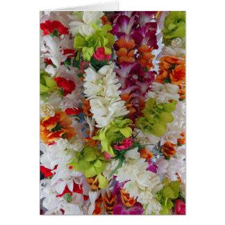 Soporte hawaiano de los leus tarjeta de felicitación