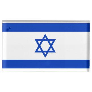 Soporte Para Tarjetas De Mesa Bandera de Israel
