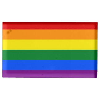 Soporte Para Tarjetas De Mesa Bandera del arco iris
