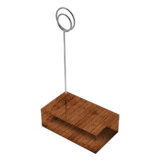 Soporte Para Tarjetas De Mesa Casar - pared del granero, tablones de madera - a