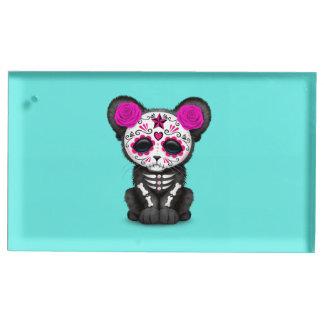 Soporte Para Tarjetas De Mesa Día rosado de la pantera negra muerta Cub