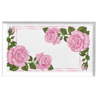 Soporte Para Tarjetas De Mesa El casarse de la esquina rosado bonito de los