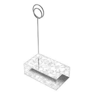 Soporte Para Tarjetas De Mesa Fondo de piedra veteado de mármol del blanco gris