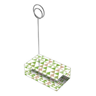 Soporte Para Tarjetas De Mesa Mosaico geométrico del árbol de la col rizada del