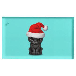 Soporte Para Tarjetas De Mesa Pantera negra linda Cub que lleva un gorra de