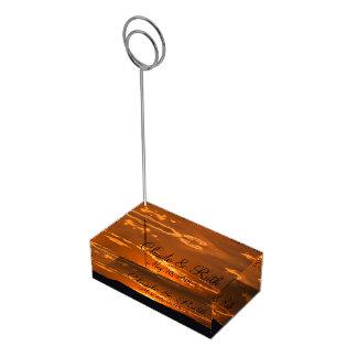 Soporte Para Tarjetas De Mesa Portatarjetas anaranjado asombroso de la tabla de