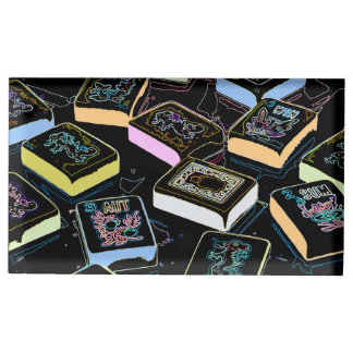 Soporte Para Tarjetas De Mesa Portatarjetas de los dragones del Mah Jongg