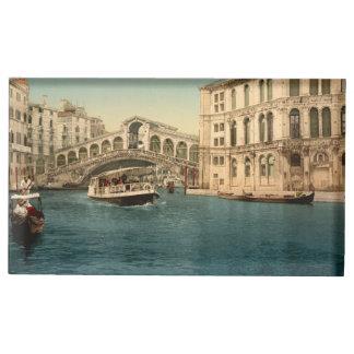 Soporte Para Tarjetas De Mesa Puente y Gran Canal, Venecia, Italia de Rialto