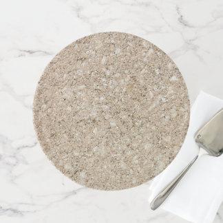 Soporte Para Tartas Acera beige amelocotonada pálida del cemento