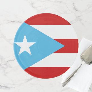 Soporte Para Tartas Bandera Celeste Puerto Rico