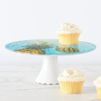 Soporte Para Tartas Destinos dulces del destino de la piña de la placa