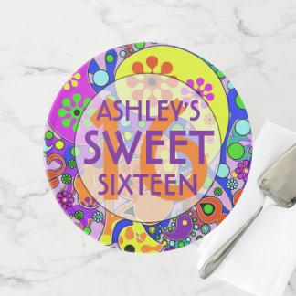 Soporte Para Tartas Fiesta de cumpleaños colorida del dulce 16