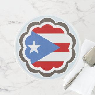 Soporte Para Tartas Fiesta de la flor, bandera puertorriqueña
