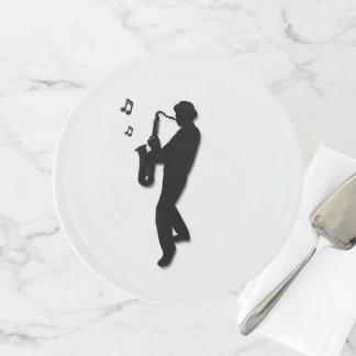 Soporte Para Tartas Jugador de saxofón