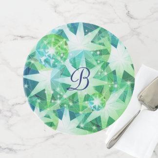 Soporte Para Tartas Mirada diamante de imitación de Bling del compás