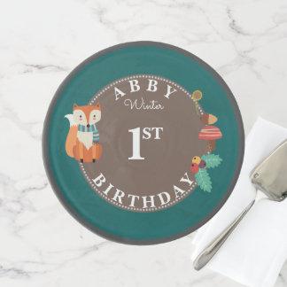 Soporte Para Tartas Primer cumpleaños del Fox del arbolado del choque
