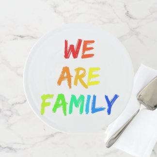 Soporte Para Tartas Somos adopción del arco iris de la familia,