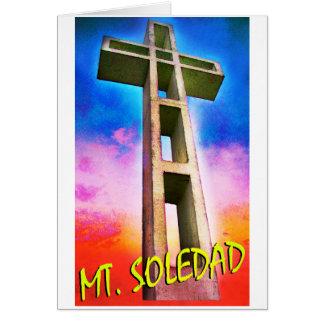 Soporte Soledad #1 cruzado Tarjeta De Felicitación