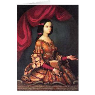 Sor Juana una bella arte de J. Sánchez de los años Tarjeta Pequeña