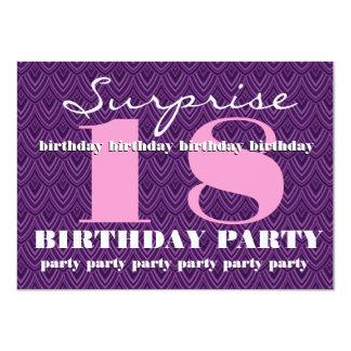 Sorprenda a la décimo octava fiesta de cumpleaños invitación 11,4 x 15,8 cm