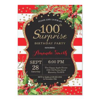 Sorprenda el 100o oro del navidad de la invitación