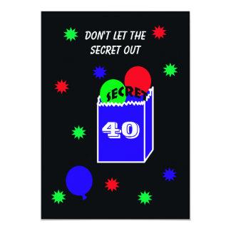 Sorprenda el 40.o SECRETO de la invitación de la