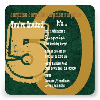 SORPRENDA el 50 o verde del cumpleaños del Grunge Invitaciones Personales