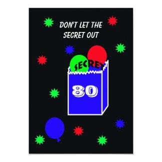 Sorprenda el 80.o SECRETO de la invitación de la