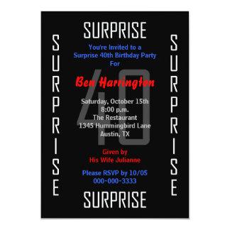 Sorprenda la 40.a invitación 40 de la fiesta de