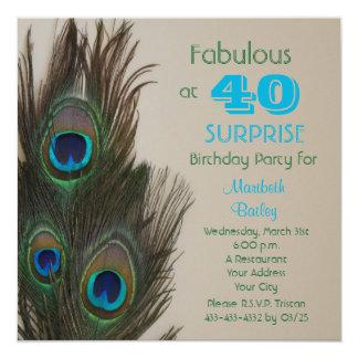 Sorprenda la 40.a invitación de la fiesta de