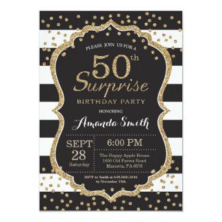 Sorprenda la 50.a invitación del cumpleaños.