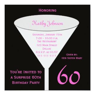 Sorprenda la 60.a invitación de la fiesta de