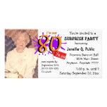 Sorprenda la 80.a invitación de la foto de la fies tarjeta fotográfica