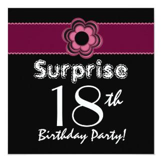 SORPRENDA la décimo octava flor del cumpleaños en Invitación 13,3 Cm X 13,3cm