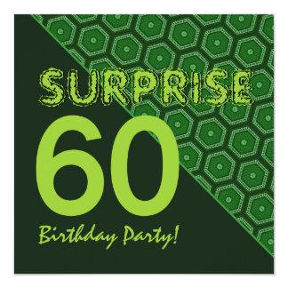 SORPRENDA las 60.as TONALIDADES del cumpleaños DE Invitación 13,3 Cm X 13,3cm