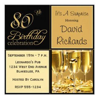 Sorprenda las 80 as invitaciones de la fiesta de c invitación personalizada