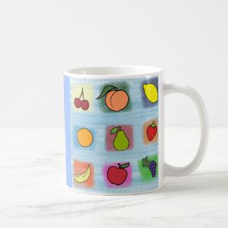 Sorpresa de la fruta taza de café