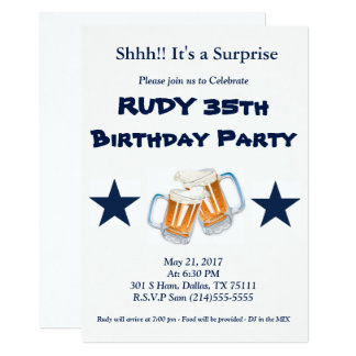 Sorpresa del cumpleaños invitación 12,7 x 17,8 cm