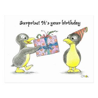 ¡Sorpresa! Es su cumpleaños Postal