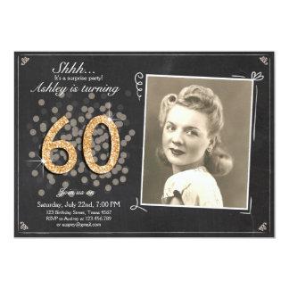 Sorpresa pizarra de la invitación de 60 cumpleaños