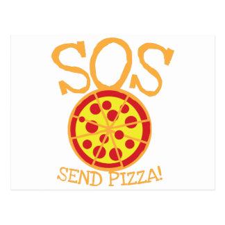¡SOS! ¡Envíe la PIZZA! con la rebanada deliciosa Postal