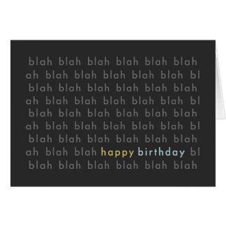 Soso - tarjeta sosa de la tipografía del feliz