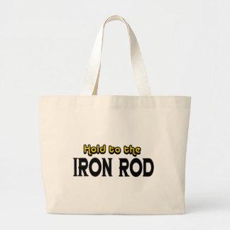 Sosténgase al hierro Rod Bolsa Tela Grande